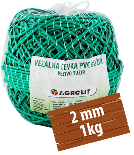 VEZALNA CEVKA PVC BUŽIR 2MM 1KG - AGROLIT