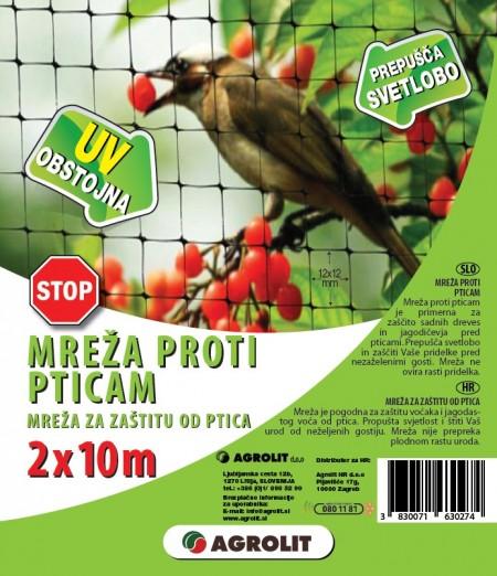 MREŽA PROTI PTICAM  2X10M AGROLIT
