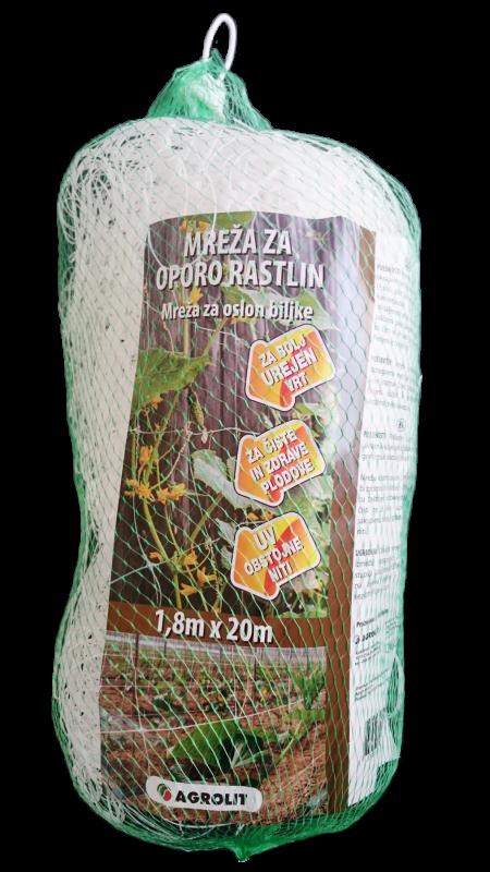 MREŽA ZA OPORO RASTLIN 1,2M X 20M - AGROLIT