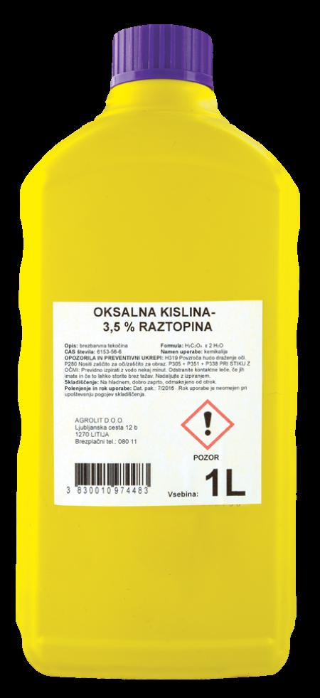 OKSALNA KISLINA RAZTOPINA 3,5% 1L - AGROLIT